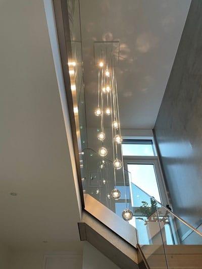 Lichtplanung im privaten Treppenhaus