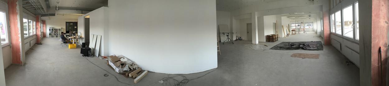 Bild vom Ausbau des neuen Showrooms von Lichtraum Freiburg