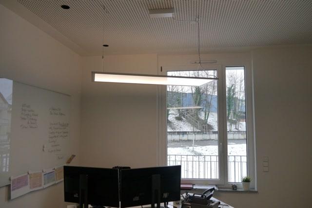 Deckenleuchten für das Büro von Lichtraum Freiburg