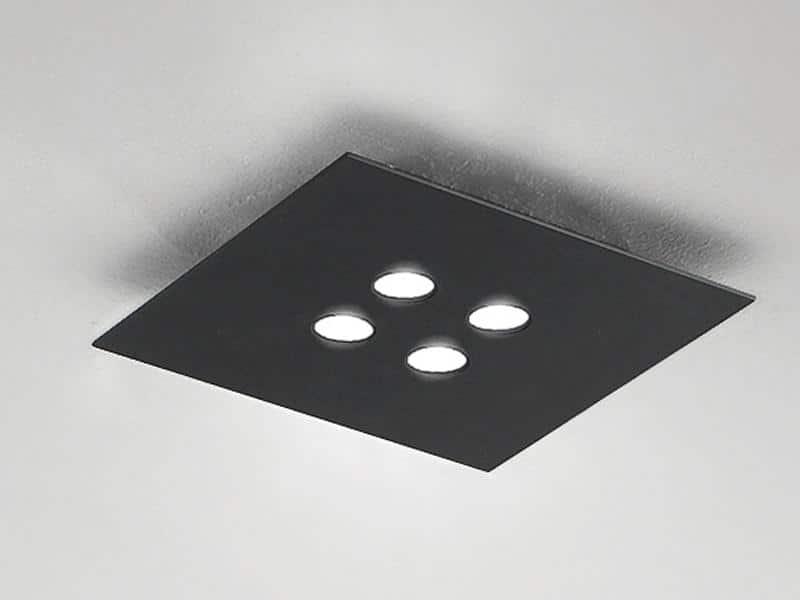 Quadratische Deckenleuchte im Showroom Freiburg - Lichtraum