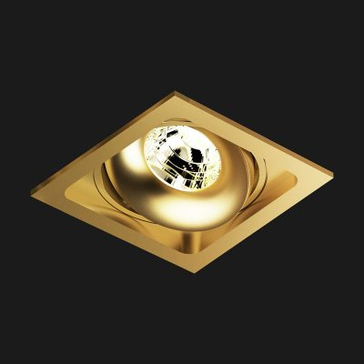Edle Einbauleuchte in Gold – Lichtplanung Freiburg