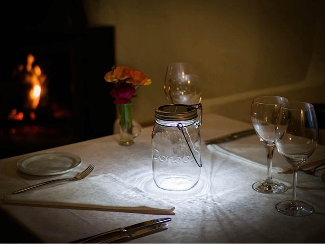 Einmachglas-Lampe als Tischleuchte in Freiburg Lichtraum