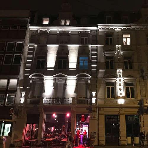 Fassadenbeleuchtung Lichtraum Freiburg