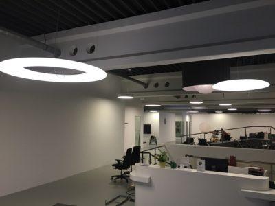 Lichtring Leuchte sorgt für Abwechslung im Interieur
