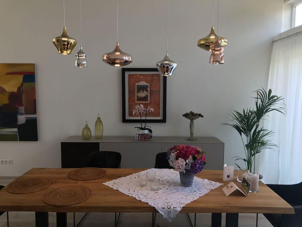 Stilvolle Tischbeleuchtung für ein optisches Highlight