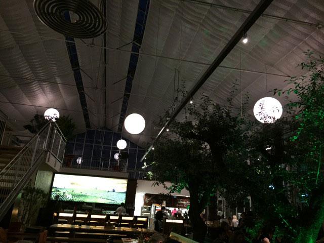 Beleuchtung für die gesamte Halle